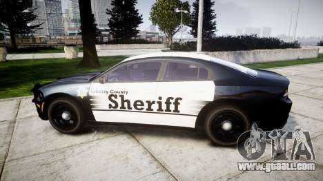 Dodge Charger 2015 County Sheriff [ELS] for GTA 4 left view