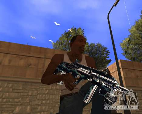Blue Chrome Weapon Pack for GTA San Andreas