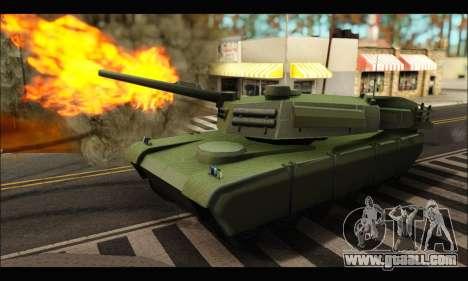 Retextured Rhino Tank for GTA San Andreas left view