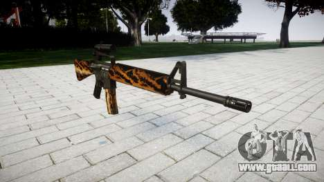 The M16A2 rifle [optical] tiger for GTA 4