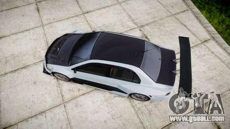 Mitsubishi Lancer Evolution IX for GTA 4 right view
