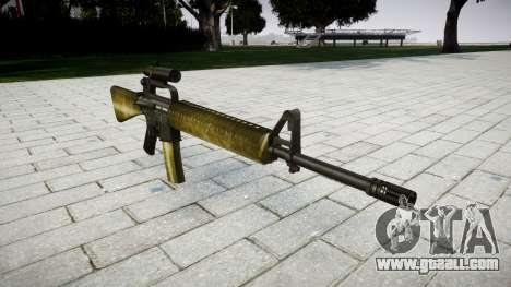 The M16A2 rifle [optical] olive for GTA 4