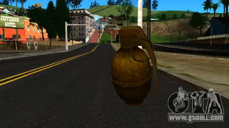 Grenade from GTA 4 for GTA San Andreas second screenshot