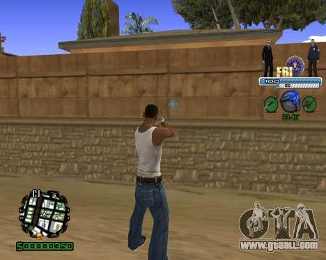 C-HUD FBI for GTA San Andreas second screenshot
