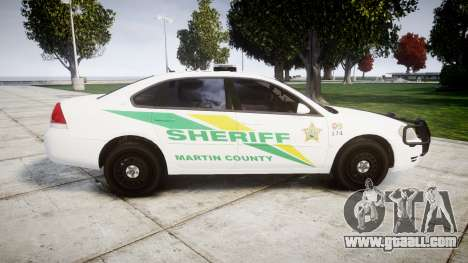 Chevrolet Impala Martin County Sheriff [ELS] for GTA 4