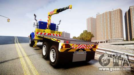 HVY Biff Indonesian Jasamarga Tow Truck [ELS] for GTA 4 back left view