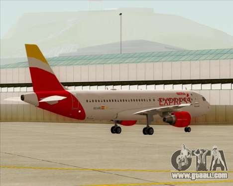 Airbus A320-200 Iberia Express for GTA San Andreas inner view