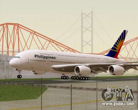Airbus A380-800 Philippine Airlines for GTA San Andreas left view