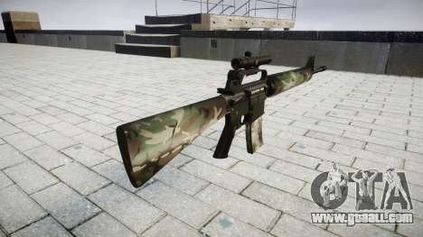 The M16A2 rifle [optical] woodland for GTA 4 second screenshot