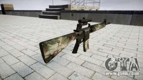 The M16A2 rifle [optical] woodland for GTA 4 second screenshot