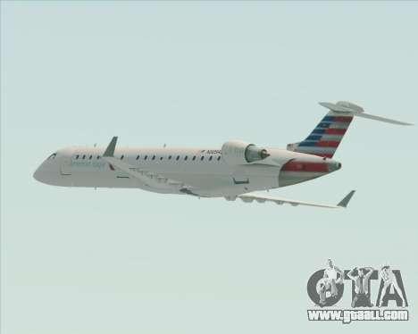 Bombardier CRJ700 American Eagle Airlines for GTA San Andreas wheels