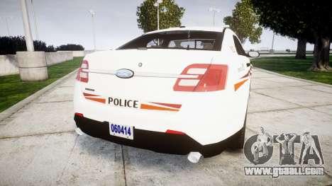 Ford Taurus 2014 Police Interceptor [ELS] for GTA 4 back left view