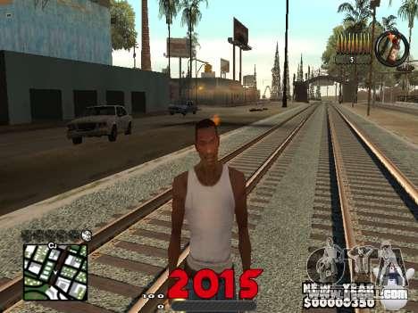 CLEO HUD New Year 2015 for GTA San Andreas