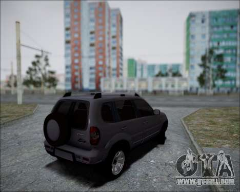 Chevrolet Niva for GTA San Andreas back left view