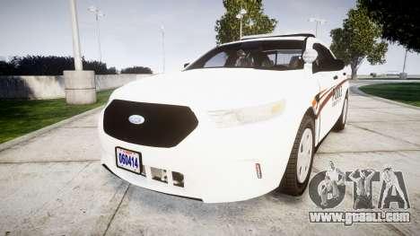 Ford Taurus 2014 Police Interceptor [ELS] for GTA 4