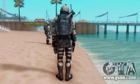 C.E.L.L. Soldier (Crysis 2) for GTA San Andreas sixth screenshot