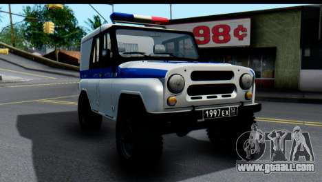 UAZ 469 VAI for GTA San Andreas back left view