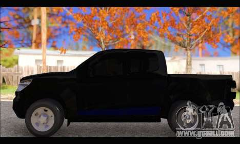Chevrolet S10 LS 2014 for GTA San Andreas left view