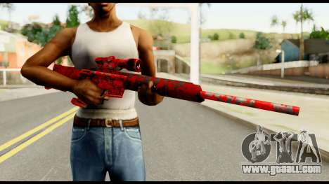 Sniper Rifle with Blood for GTA San Andreas third screenshot