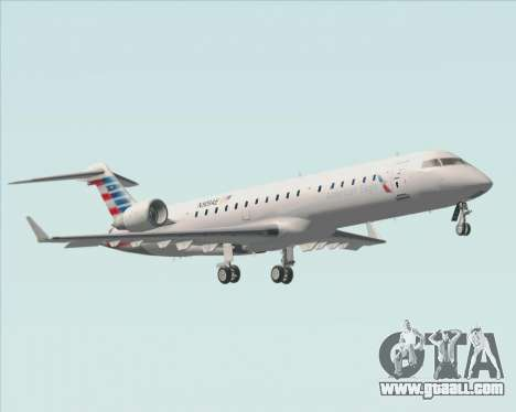 Bombardier CRJ700 American Eagle Airlines for GTA San Andreas bottom view