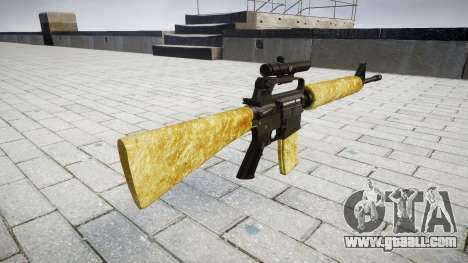 The M16A2 rifle [optical] gold for GTA 4 second screenshot