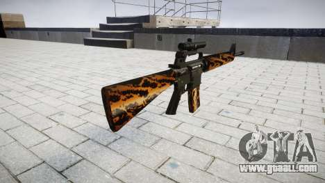 The M16A2 rifle [optical] tiger for GTA 4 second screenshot