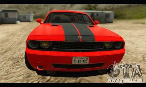Dodge Challenger SRT-8 2010 v2.0 for GTA San Andreas left view