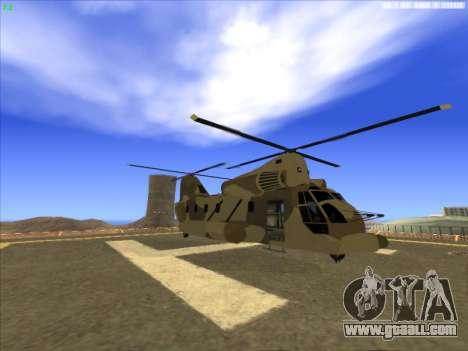 GTA 5 Cargobob for GTA San Andreas left view