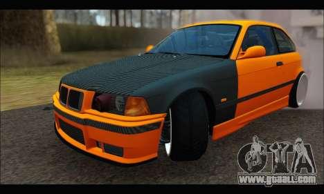 BMW e36 Drift for GTA San Andreas back view