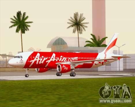 Airbus A320-200 Air Asia Japan for GTA San Andreas inner view