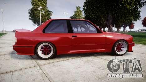 BMW E30 M3 for GTA 4 left view