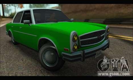 Benefactor Glendale (GTA V) for GTA San Andreas