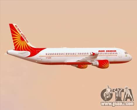 Airbus A320-200 Air India for GTA San Andreas wheels