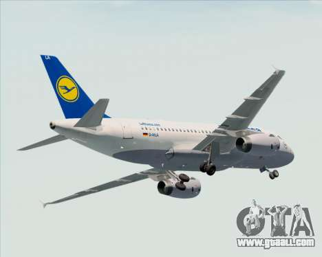 Airbus A319-100 Lufthansa for GTA San Andreas wheels