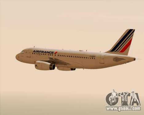 Airbus A319-100 Air France for GTA San Andreas engine