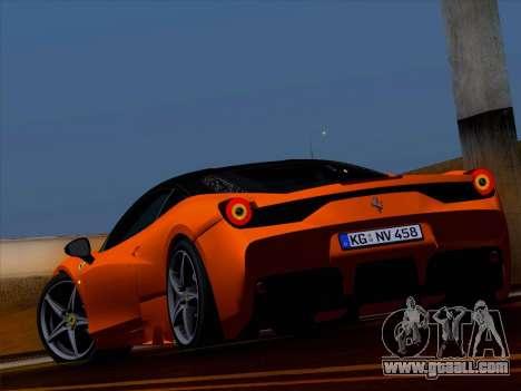 Ferrari 458 Special for GTA San Andreas left view