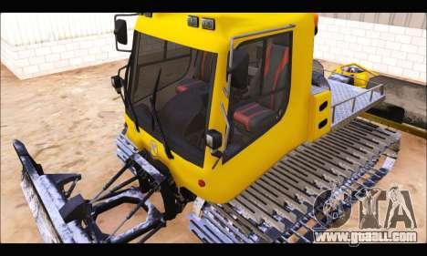 PistenBully 100L for GTA San Andreas inner view