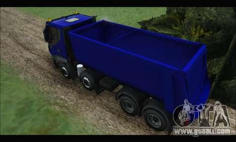 Iveco Trakker 2014 Tipper for GTA San Andreas back view