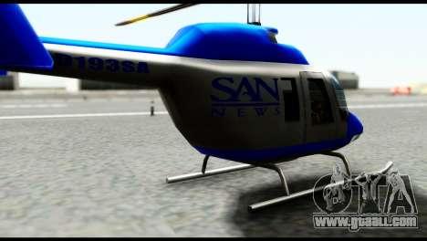 Beta News Maverick for GTA San Andreas back left view