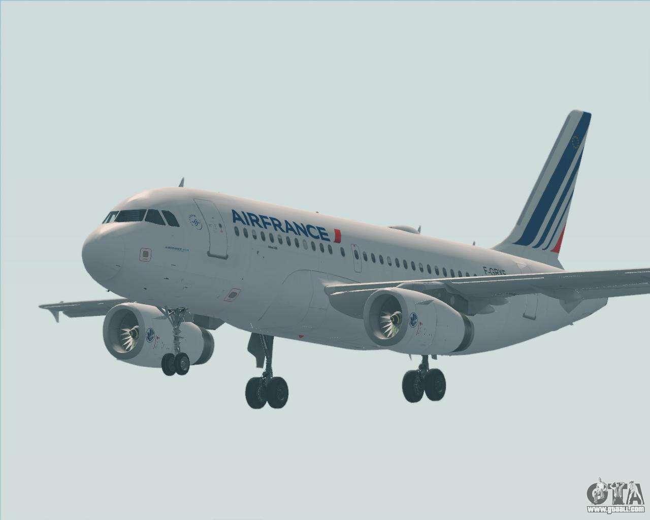 Airbus A319 100 Air France For Gta San Andreas