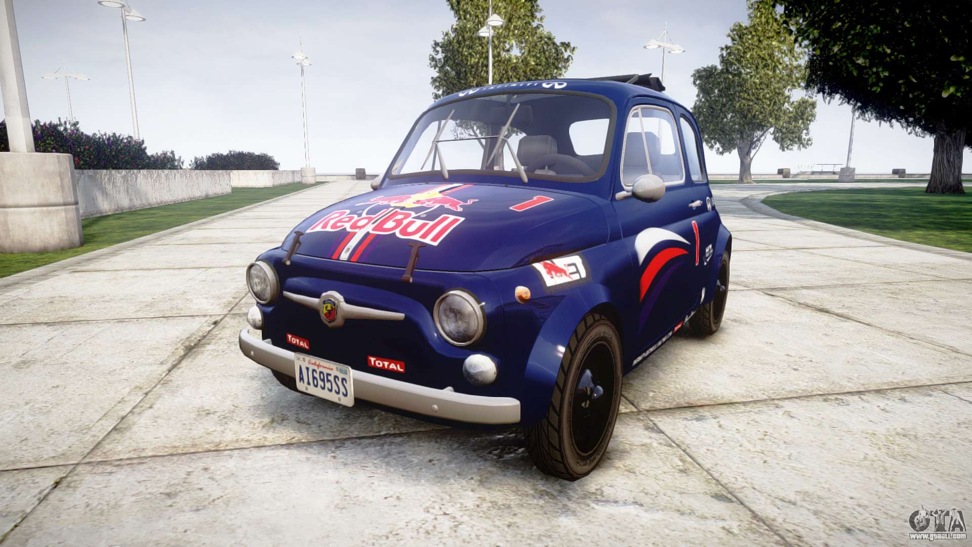fiat 695 abarth ss assetto corse 1970 red bull for gta 4. Black Bedroom Furniture Sets. Home Design Ideas
