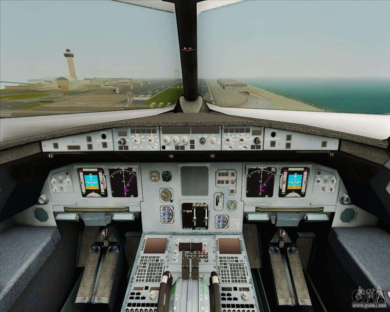 Airbus a320 200 air india for gta san andreas for Gta sa plane interior mod