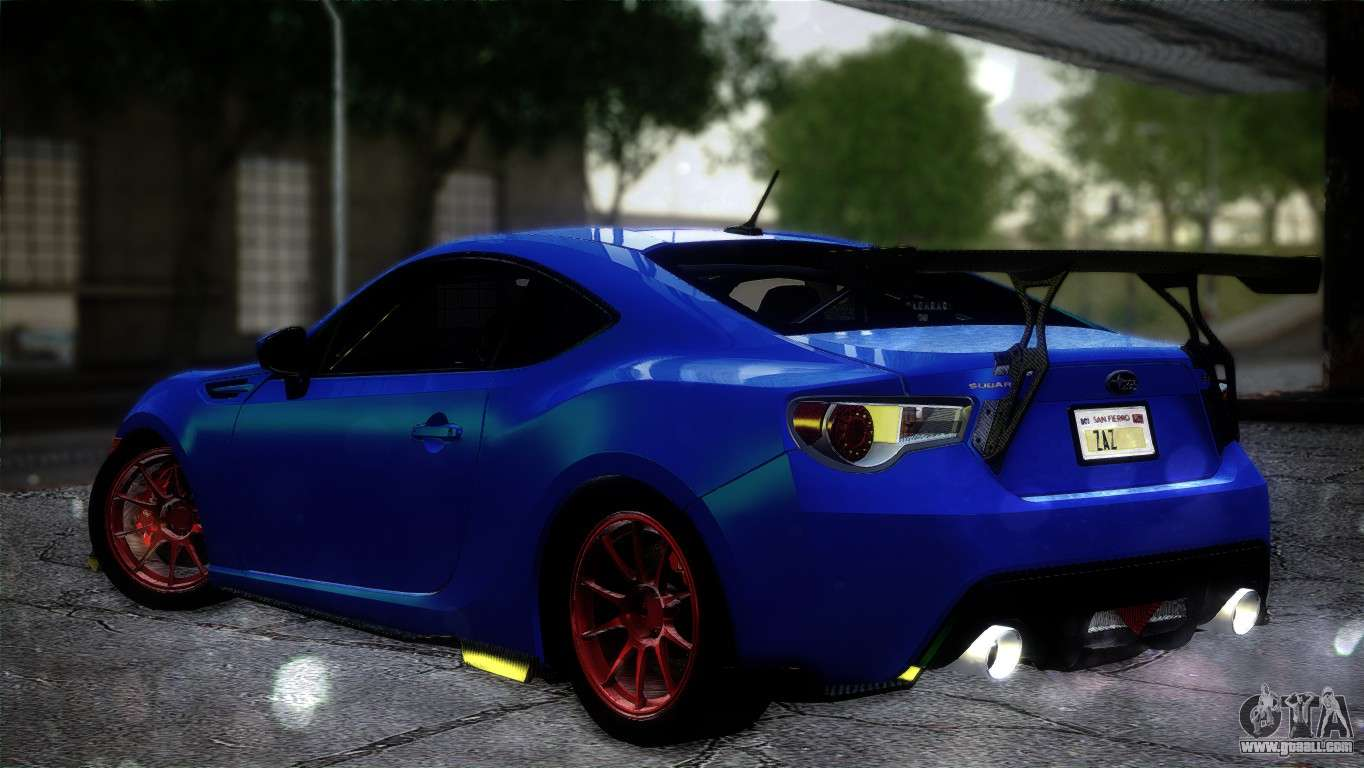 subaru brz drift built for gta san andreas. Black Bedroom Furniture Sets. Home Design Ideas