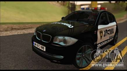 BMW 120i GEO Police for GTA San Andreas