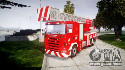 Scania R580 Belgian Fireladder [ELS] for GTA 4