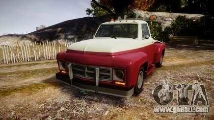 Vapid Towtruck Restored stripeless tires for GTA 4