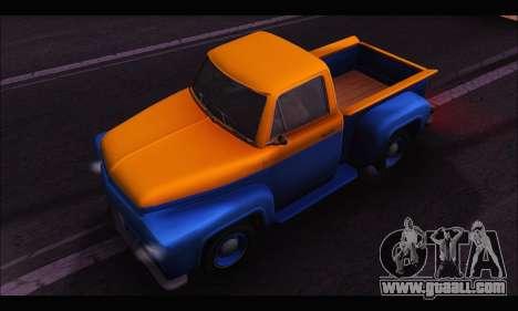 Vapid Slamvan (GTA V) for GTA San Andreas right view