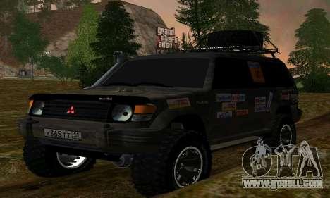 Mitsubishi Pajero Off-Road for GTA San Andreas