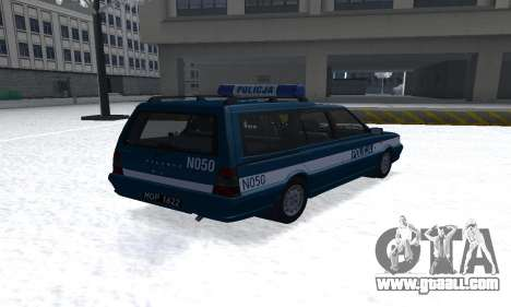Daewoo-FSO Polonez Kombi 1.6 GSI Police 2000 for GTA San Andreas back left view