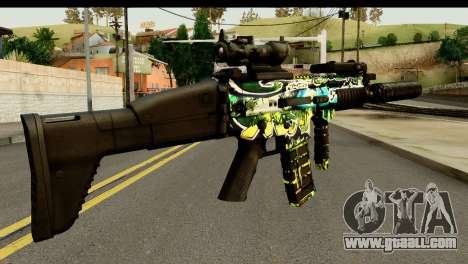 Grafiti M4 for GTA San Andreas second screenshot